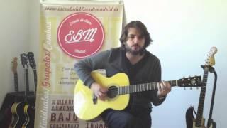 Escuela de Blues de Madrid. Leccion. Blues Lesson. Shuffle E x J. L.Pardo