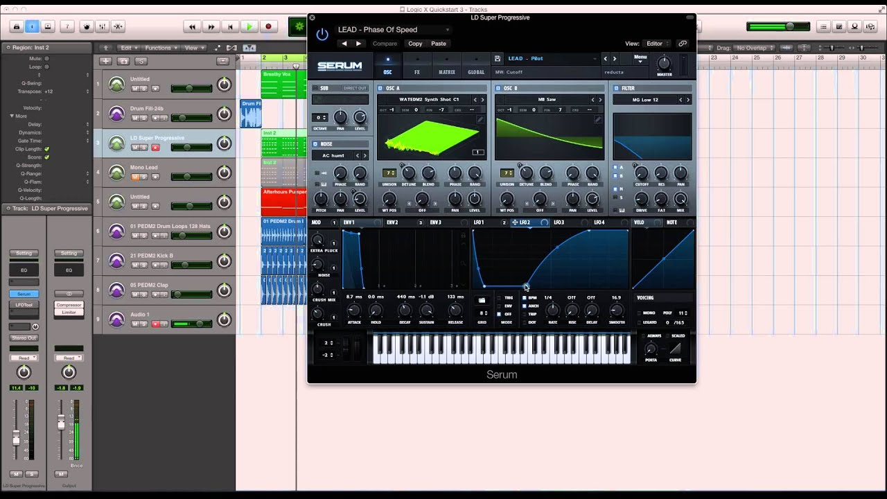 Side Chain LFO Effect In Serum – ADSR