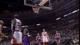 Michael Jordan's INSANE Reverse Layup While being Fouled