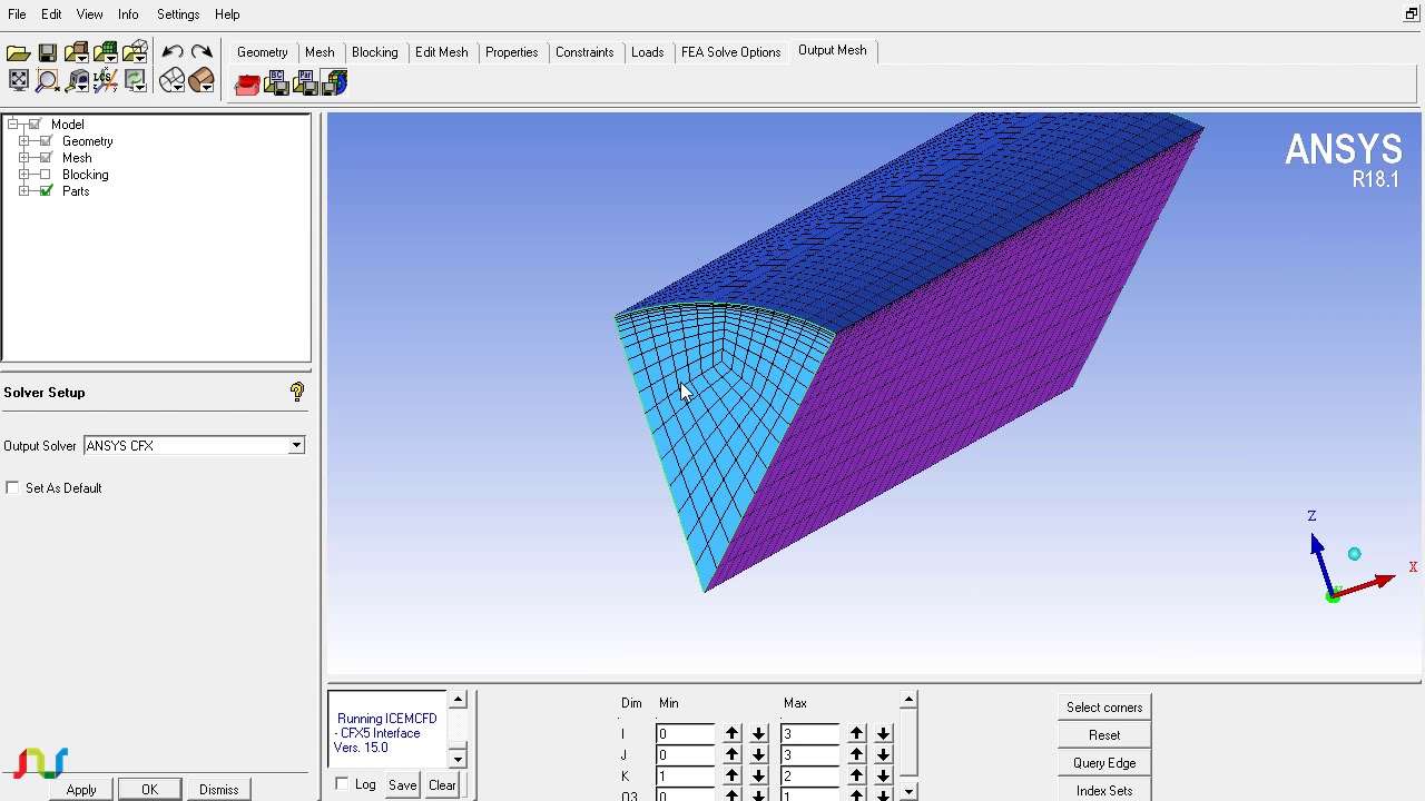 Defining periodicity in ICEM CFD and Fluent and CFX (5/5)