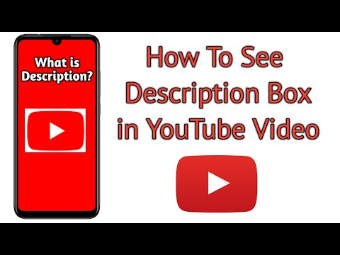 How to see Description Box on YouTube Video