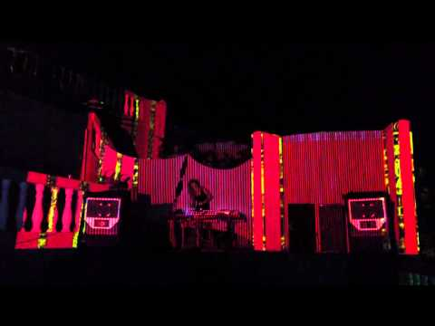 3D Mapping Visual Art. Club Nyex. Goa. India.