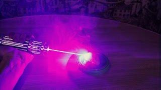 Тест лазера 10000 mW на МЯСЕ !
