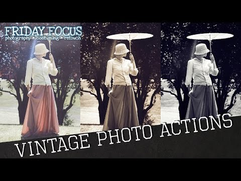 How To Make A Vintage And Antiqued Photoshop Action Set | Friday Focus I Temperate Sage Tutorial