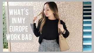 What's In My Work Bag  - Europe Travel Edition | Sight Vegan Leather Tote | STYLE