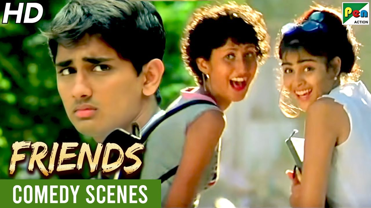 जेनेलिया देशमुख - फनी कॉलेज सीन | Friends Movie Comedy Scene | Hindi Dubbed Movie 2021