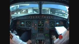 Tam A320 Push Back e Decolagem em Porto Alegre Para São Paulo VOO 3054.wmv