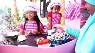 What If Jessica Jenica Jadi Penjual Telur Goreng 💖 Pakai Mainan Bisa Masak Beneran