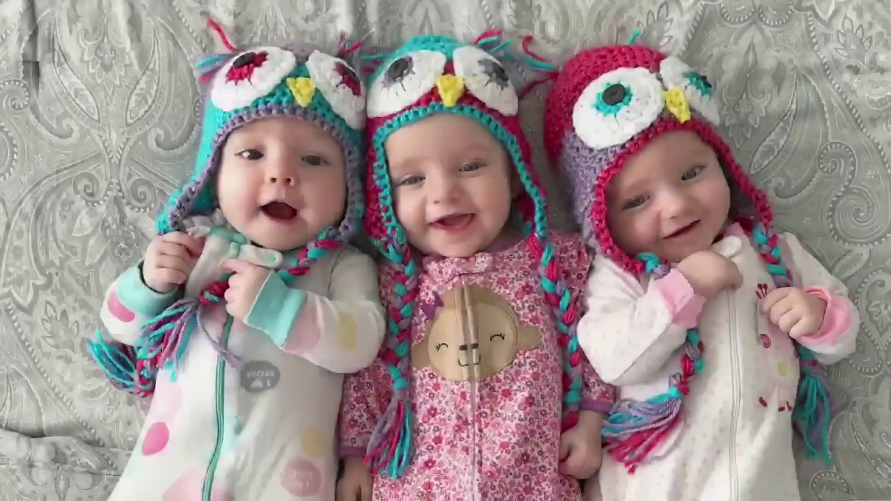A day in the life with 6 month old TRIPLETS! - YouTube Three Babies Two Girls One Boy