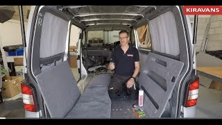 How to Professionally Carpet Line a Campervan Conversion - VW T5/T6