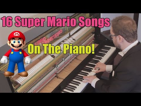 16 Super Mario Songs on Piano