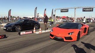 Lamborghini Aventador vs Porsche 991 Turbo S