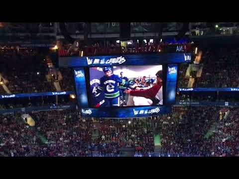 Canucks 2017/2018 in game intro and player introductions