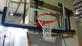 FoldaMount46™ Side-Folding Basketball Goal - Folding Demo