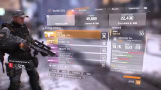 THE DIVISION STAT BUG, no slotted gear/weapon changes but watch primary dps