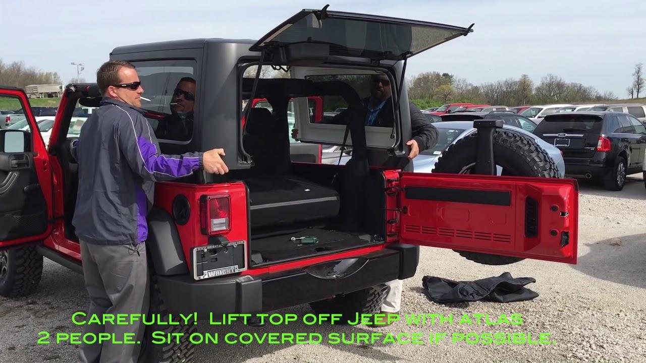 medium resolution of 2016 jeep wrangler hardtop removal