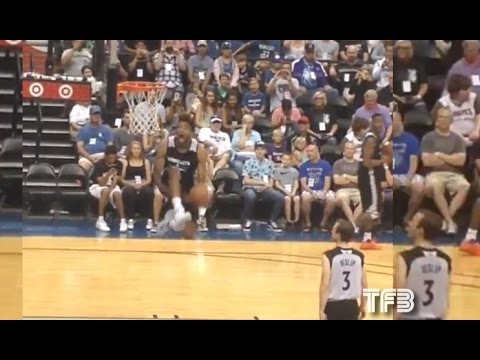 Karl-Anthony Towns KILLS Between the Legs DUNK during TWolves Practice!