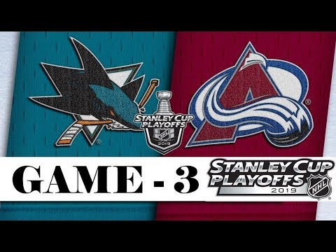 San Jose Sharks vs Colorado Avalanche | Apr.30, 2019 | Game 3 | Stanley Cup 2019 | Обзор матча