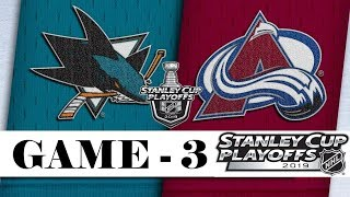 San Jose Sharks Vs Colorado Avalanche  Apr.30 2019  Game 3  Stanley Cup 2019  Обзор матча