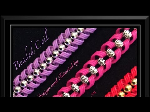 Strand Band Beaded Coil Bracelet Tutorial/How To