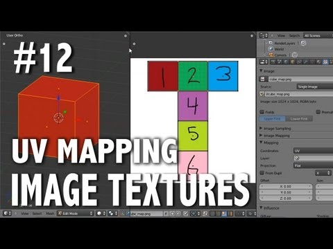 Blender 2.6 Tutorial 12 - UV Mapping (Image Textures)
