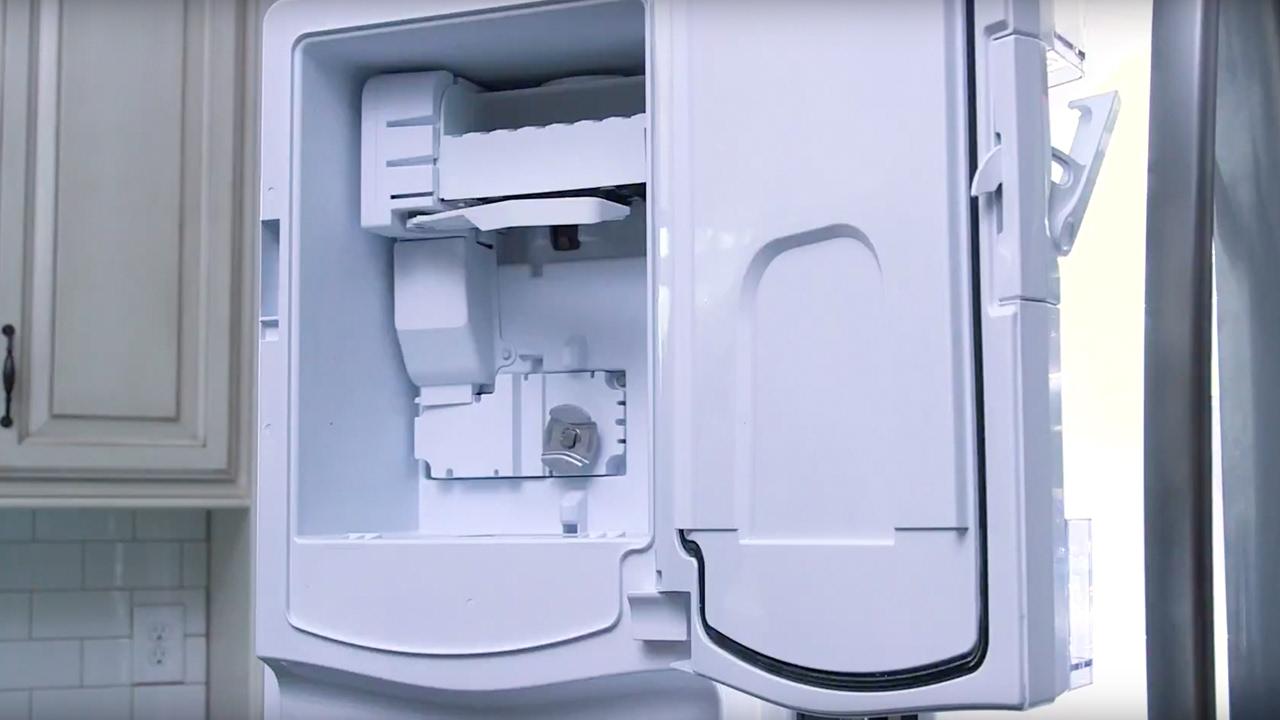 ge appliances french door refrigerator icemaker installation [ 1280 x 720 Pixel ]