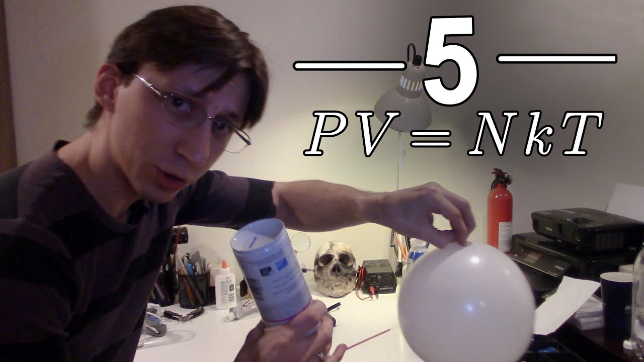 5 Ideal Gas Law Experiments - PV=nRT or PV=NkT - YouTube