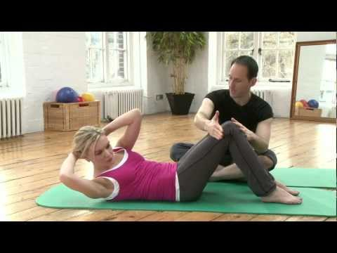 Chest Lift with Rotation Pilates exercise from yoopod.com