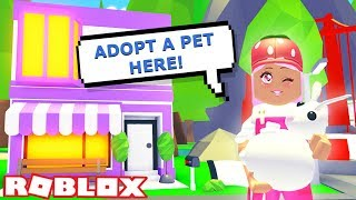 I OPENED A PET ADOPTION SHOP IN ADOPT ME   Roblox