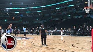 Donovan Mitchell sinks half-court shot before the NBA Rising Stars Challenge | NBA on ESPN