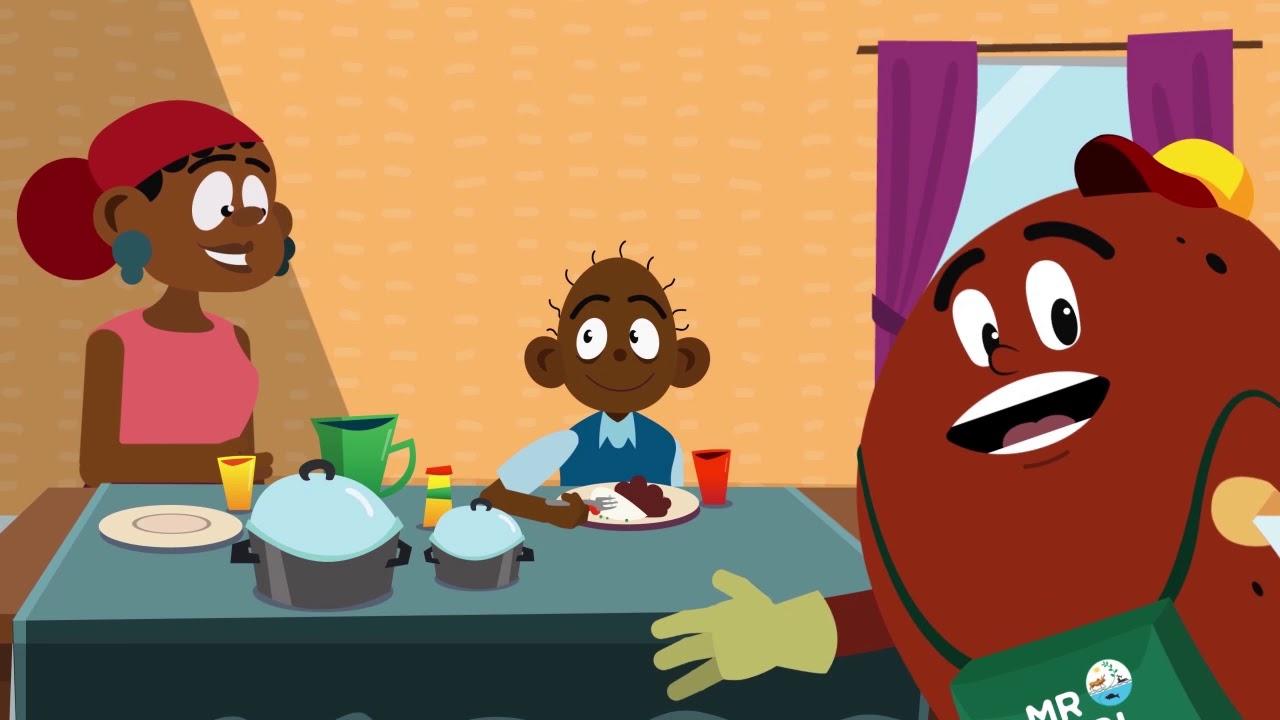 Download Mr Nutribean animation - Luganda version