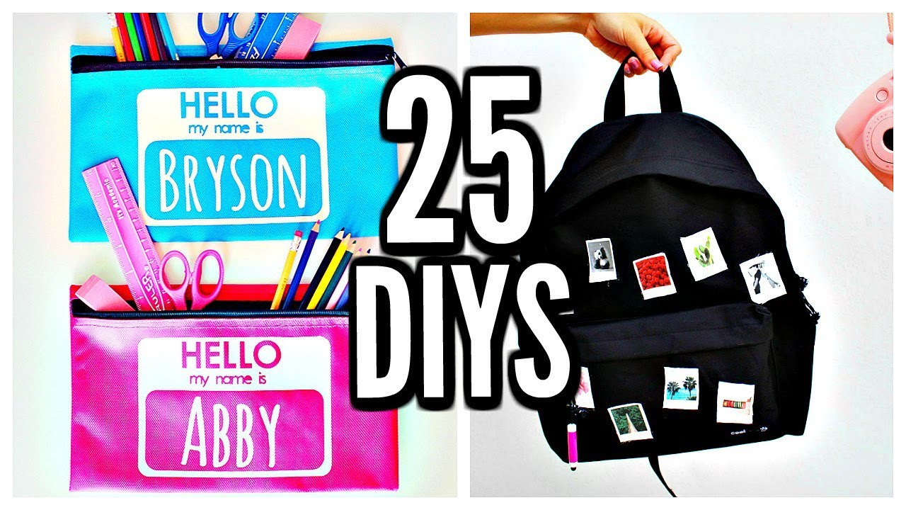 25 DIY SCHOOL SUPPLIES! Back To School 2017-2018 - YouTube 800830c414448