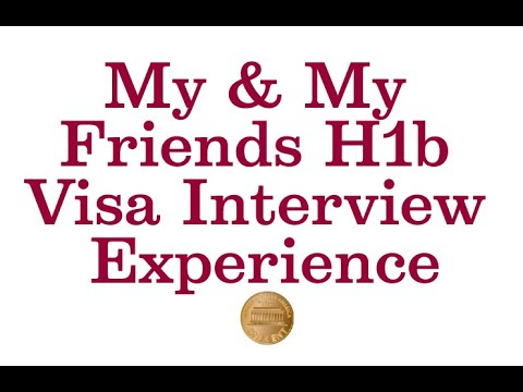 H1b Visa Interview And Stamping Experience In US Consulate Chennai India