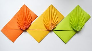 How to make a Colored Paper ENVELOPE | Easy Origami Tutorial DIY