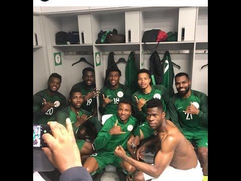 Nigeria Super Eagle Praising God ahead of...