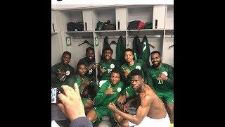 Nigeria Super Eagle Praising God ahead of Argentina Game