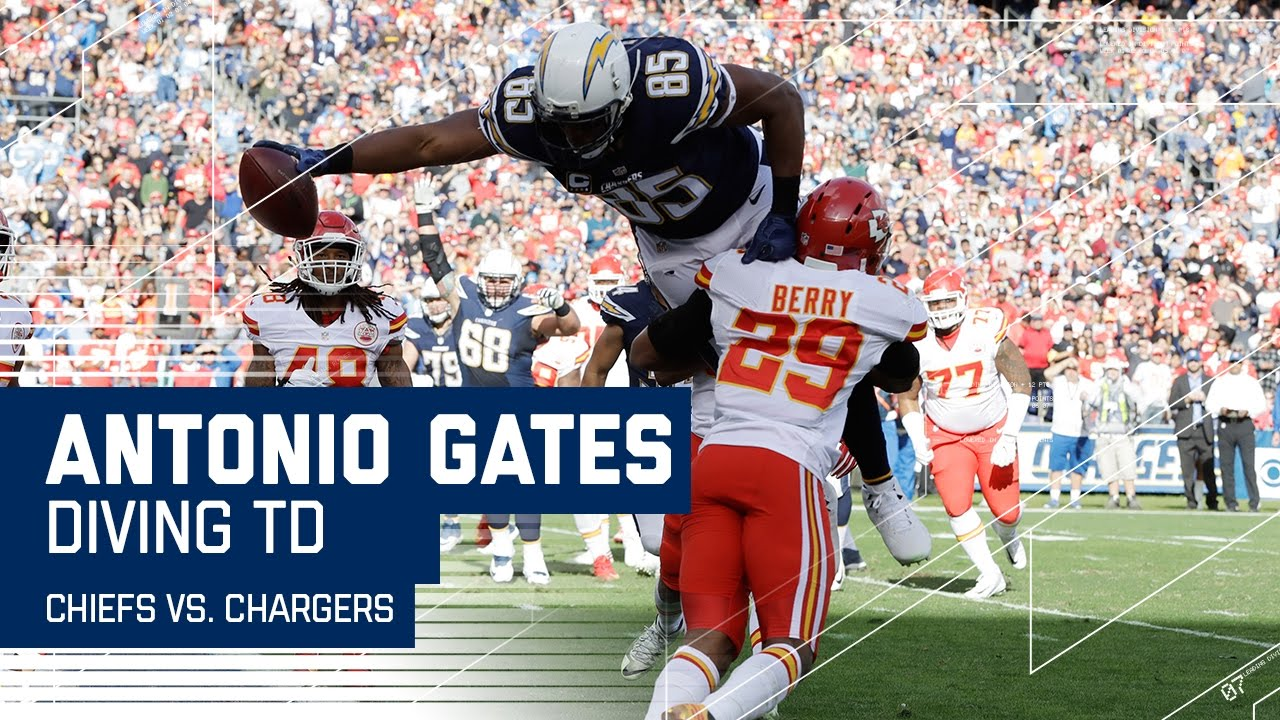 Antonio Gates Big TD Ties the Tight End Record for Career TDs
