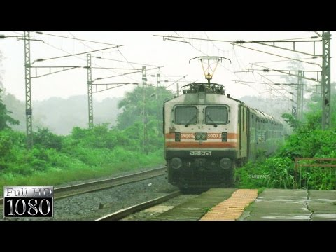 Esteemed NWR Train - Honking as if High-Speed Train | WAP-5 & Suryanagari Express
