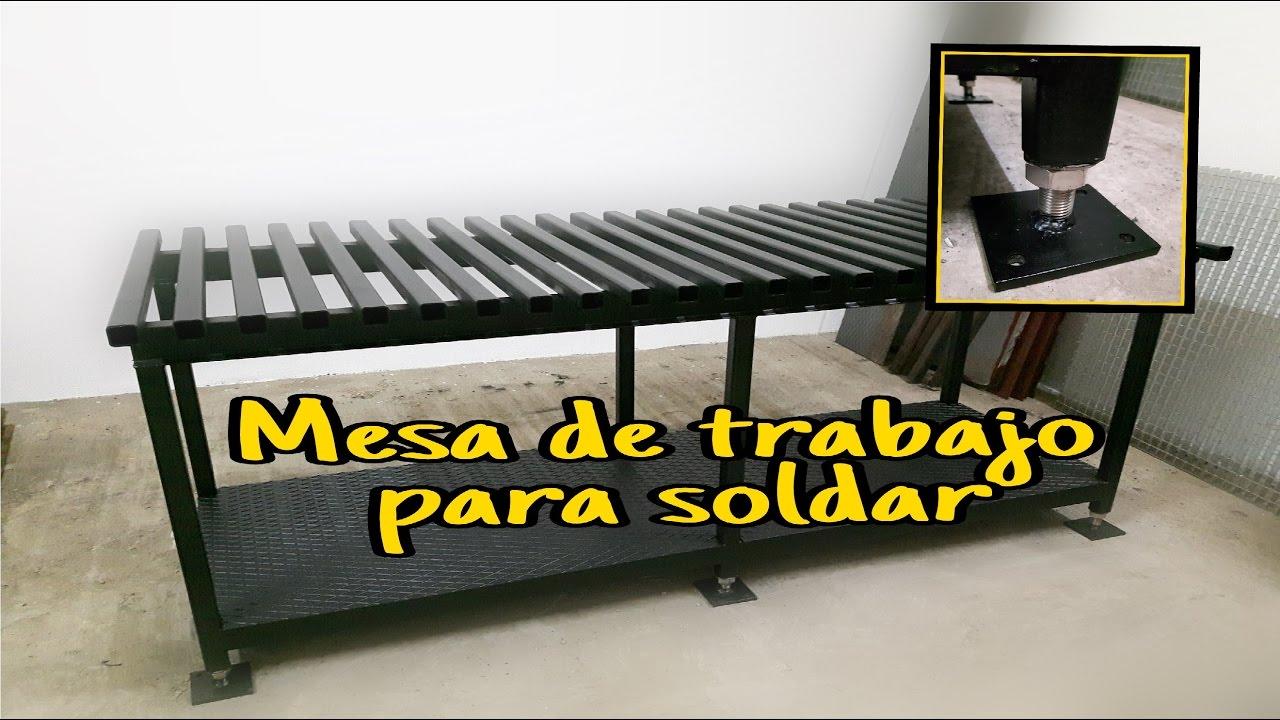 Mesa para soldar youtube for Sustrato para mesa de cultivo