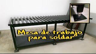 Mesa para soldar
