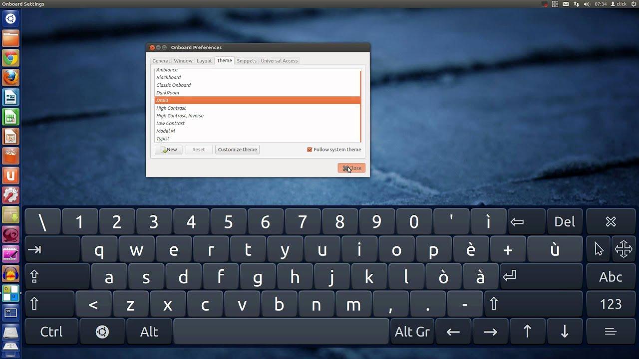 configure onboard keyboard ubuntu