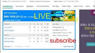 England VS Australia ||  live cricket score || cricket match today