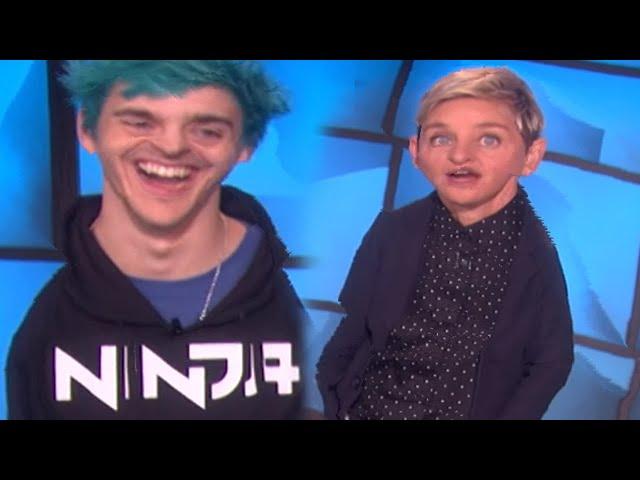 Ninja on The Ellen Show but it's awkward...