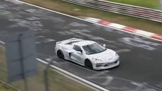 Corvette Mid-Engine C8 Testing Nordschleife Nurburgring.