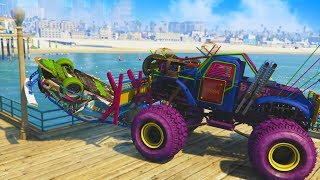 HE WAS NOT HAPPY ABOUT THIS! *MONSTER TRUCK TROLLING!* | GTA 5 THUG LIFE #196