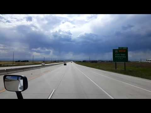 Bigrigtravels Live! Short drive on on Interstate 70 Westbound in eastern Denver July 3, 2016