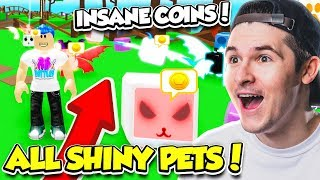 I GOT TONS OF SHINY PETS IN PET RANCH SIMULATOR UPDATE!! (Roblox)