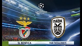 Benfica vs PAOK   UEFA Champions League 2018   PES 2018 Gameplay PC