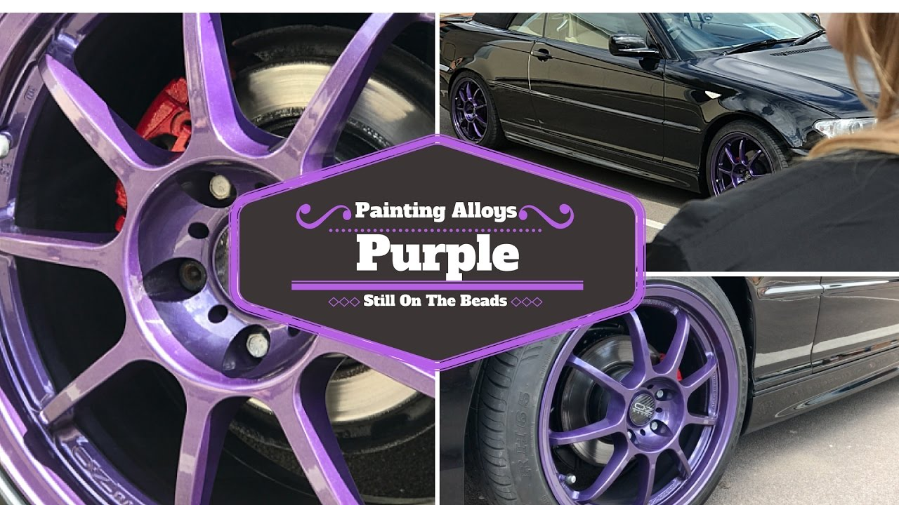 Painting Alloys Purple Without Popping The Beads Step By Guide