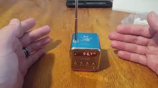 TD-V26 Review Radio/Mini-Speaker MP3 Player $13